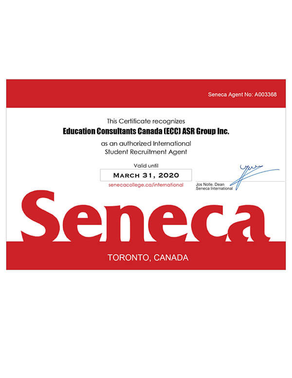 Education Consultants Canada is authorized recruiter of Centennial College for Qualified International Students