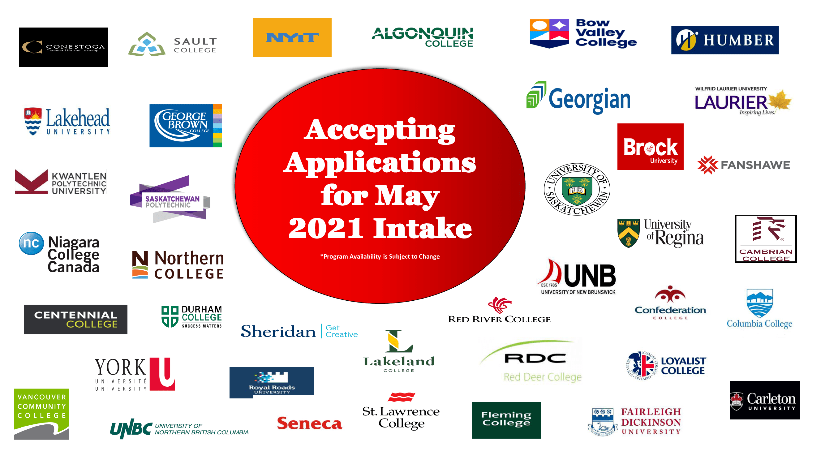 Apply for May 2021 Intake in Canada